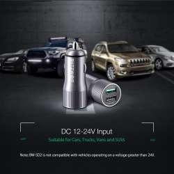 BlitzWolf BW-SD2 – автомобильная зарядка с QC3, двумя портами и номинальной долговременной мощностью, соответствующей заявленной