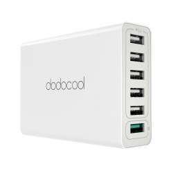 Шестипортовое зарядное устройство Dodocool DA102 с технологией QC3