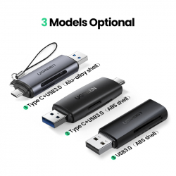 USB 3.0 кардридер Ugreen для SD и TF карт памяти