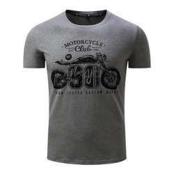 Мужская футболка с мотоциклом