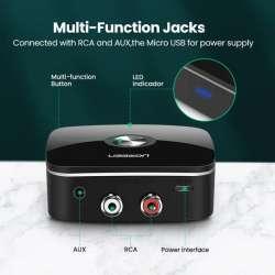 Bluetooth-ресивер Ugreen с поддержкой aptX LL для автомобиля и домашней аудиосистемы