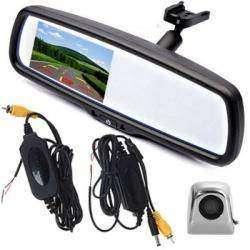 Автомобильное зеркало-монитор и камера заднего вида с беспроводным блоком