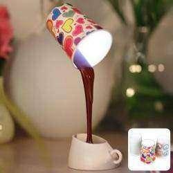 Интересный ночник в виде чашки с шоколадом