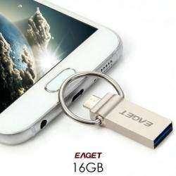 Удобная флешка USB 3.0 Eaget 16GB с OTG