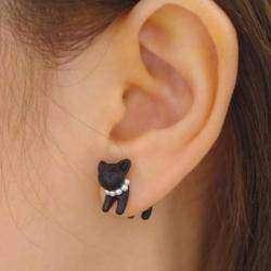 Обзор симпатичной сережки - котенка