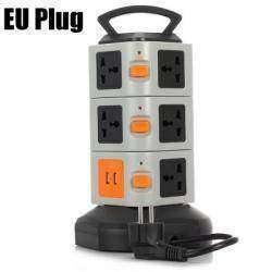 Удлинитель на 11 универсальных розеток и 2 USB