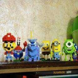 Детский конструктор LOZ собираем из маленьких деталей интересных персонажей