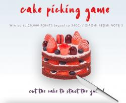 Разрезай поздравительный торт и выиграй смартфон XIAOMI REDMI NOTE 3 или поинты