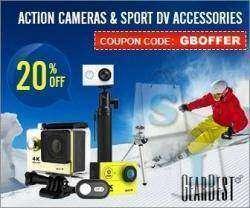 Купон на экшен камеры аксессуары скидка 20% успей купить