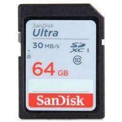 SDXC карта памяти Sandisk 64GB Ultra Class10 30MB/s