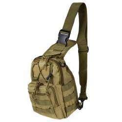 Однолямочный тактический рюкзачок из ткани Oxford 600D.