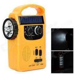 Лампа родом из 90-тых, с динамо и солнечной зарядкой