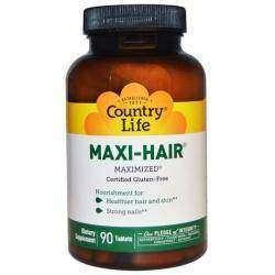 Заказ с Iherb - Country Life, Maxi-Hair, 90 таблеток и детская зубная паста GreenPeach
