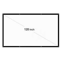 Тканевый экран для проектора 16:9 с диагональю 120 дюймов