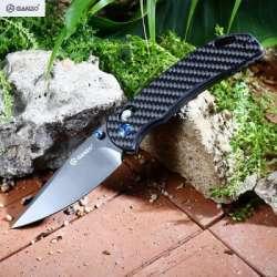 Нарядный нож Ganzo G753 с карбоново-титановым оформлением