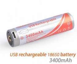 Обзор OrcaTorch USB 18650 емкостью 3400mAh