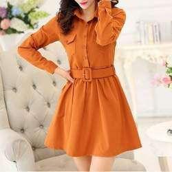 Осеннее платье с рукавами, 'добавим красок в осень'