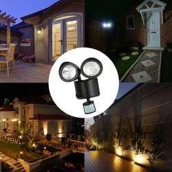 Двойной фонарь с датчиком освещения/движения и зарядом от солнечных батарей