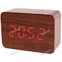 Часы в форме деревянного бруска