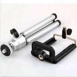 Мини-штатив для фотоаппарата с держателем под смартфон (триножка)