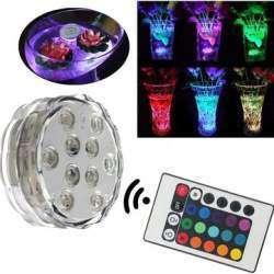 Водонепроницаемый фонарь подсветки на 10 LED rgb с дистанционным управлением