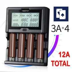 Miboxer C4-12 - мощное зарядное устройство на 4 слота по 3.0А