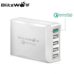 Зарядное устройство BlitzWolf BW-S7: 5 портов, Quick Charge 3.0, 40 Вт