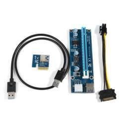 Разборный гибкий удлинитель PCI-E 1x -> 16x