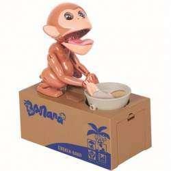 Классная механическая копилка голодная обезьяна