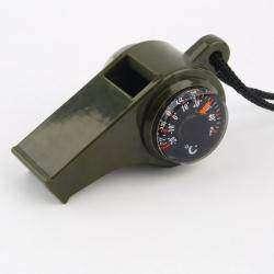 Обзор детского свистка с компасом и термометром