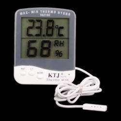 Термометр, гигрометр с выносным датчиком и большими цифрами