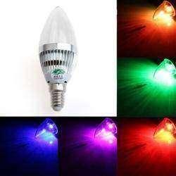 E14 3W RGB лампочка с пультом!