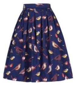 Винтажная котоновая юбка с GraceKarin