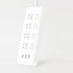 Удлинитель Xiaomi на 4 универсальных розетки и 3 USB