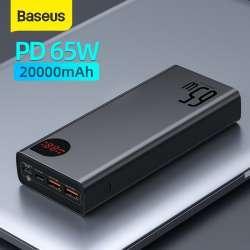 Повербанк Baseus PD 65 на 20000 mAh. Четыре порта, протоколы быстрой зарядки