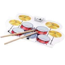 Electronic Roll Up Drum Pad Kit - почувствуй себя Филом Коллинзом