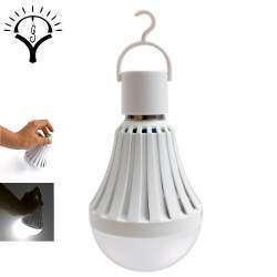 Аварийная светодиодная лампа с литиевым аккумулятором, цоколем Е27 и мощностью 5 Ватт