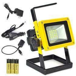 Переносной прожектор Boruit RJ-2141 на аккумуляторах 18650 с функцией power bank.