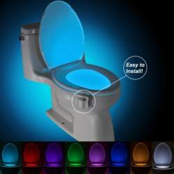 Цветная LED подсветка для унитаза Brelong с датчиком движения