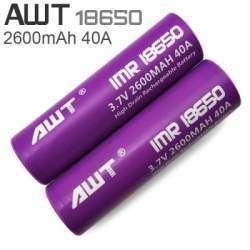 Обзор и тестирование высокотоковых аккумуляторов AWT 2600mAh, 40A, фиолетовые