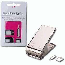 Обрезчик SIM карт и набор адаптеров для обратной конвертации