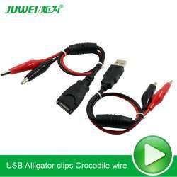 Пара USB крокодилов
