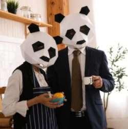 Картонные DIY маски панды - для оооочень терпеливых любителей няшности