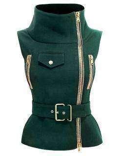 Нестандартный зеленый жилет, Waistcoat For Women