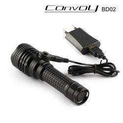 Фонарик со встроенной зарядкой Convoy bd02 XML2 U2 18650 AMC7135*6