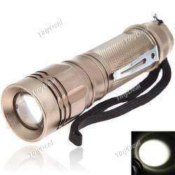 High-efficient 5 Modes 900 Lumens Cree XML T6 Adjustable Zoom LED Flashlight Torch for Outdoor