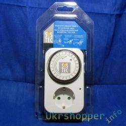 Таймер-выключатель механический 15мин-24 часа 3,5 КВт
