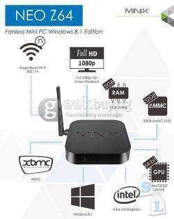 Обзор MINIX Z64w Mini PC или Smart TV или игровая консоль на Windows 8.1