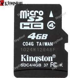Флешка Micro SD 4GB KINGSTON