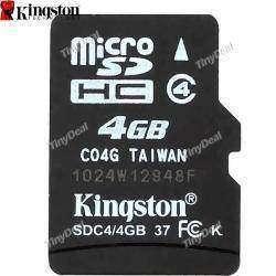 Флешка Micro SD 4GB KINGSTON